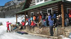About 30 people attended the ski clinic.